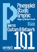 Custom and Network 101 font