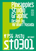 Justy st0301 font