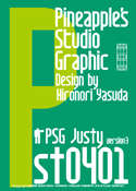 Justy st0401 font