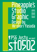 Justy st0502 font
